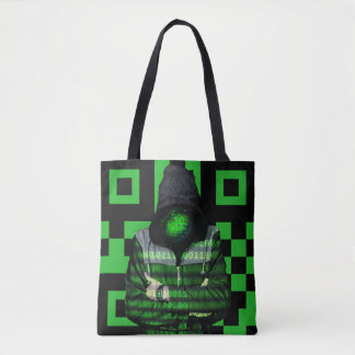 QR Binary Tote Bag