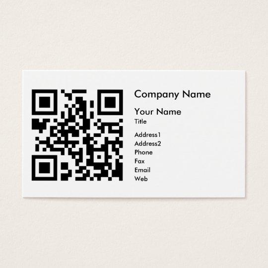 qr code business card template horizontal zazzlecomau