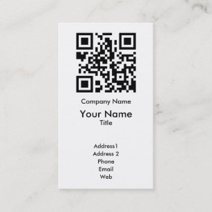 Qr code business cards zazzle au qr code business card template vertical cheaphphosting Gallery