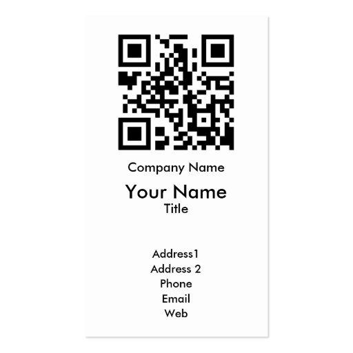 QR Code Business Card Template - Vertical