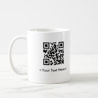 QR Code Coffee Mug With Editable Text