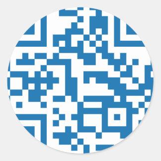 QR-Code-El-Salvador Round Stickers