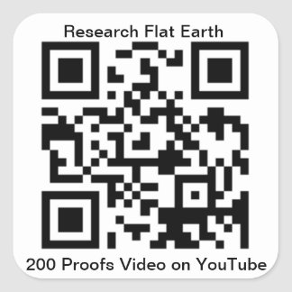 QR Code for 200 Proofs Earth is Flat by Eric Dubai Square Sticker