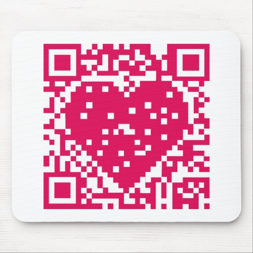 QR Code - Love Mouse Pads