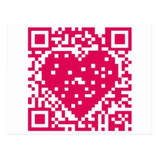 QR Code - Love Post Card