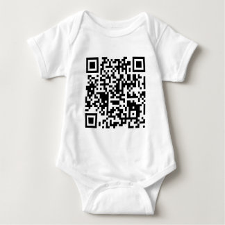 "qr code ""Point that phone somewhere else please"" Baby Bodysuit"