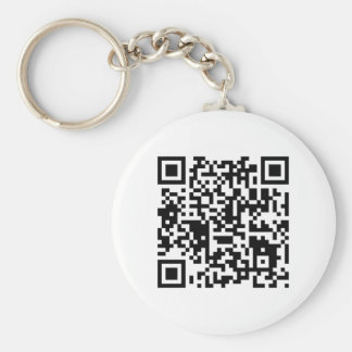 """qr code """"Point that phone somewhere else please"""" Basic Round Button Key Ring"""