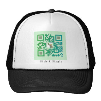 Qr Code Rich Single Trucker Hats