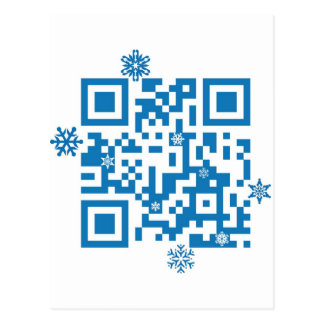 "QR Code Scans ""Merry Christmas!"" Postcard"