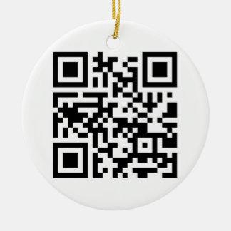 QR Code - Seasons Greetings! Christmas Tree Ornament