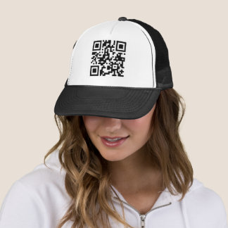 QR code sign funny cover Trucker Hat