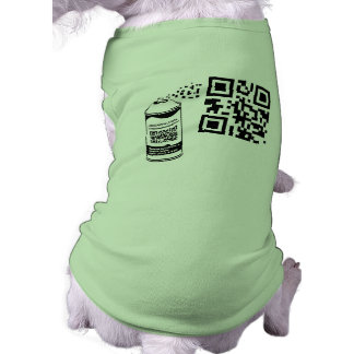 QR Code Spray Paint Pet Shirt Template