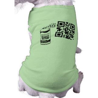 QR Code Spray Paint Pet Shirt Template