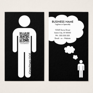 qr code stick figure business card