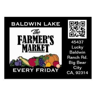 QR Code Traceable Shelftalker for Farmer's Market Business Card Templates