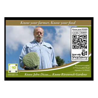 QR Code Traceable Shelftalker (Independent Farm) Pack Of Chubby Business Cards