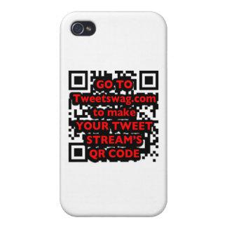 QR Code Twitter iPhone 4 Case
