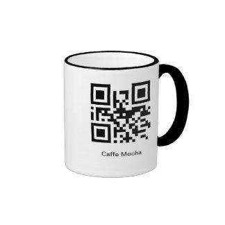 QR Coffee Caffe Mocha Ringer Mug