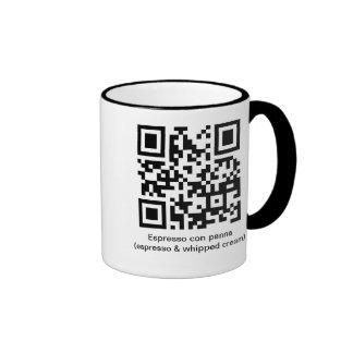 QR Espresso con panna Ringer Mug