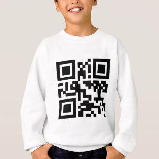 """QR """"Happy Sabbath!"""" code. Sweatshirt"""