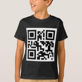 """QR """"Happy Sabbath!"""" code. T-Shirt"""