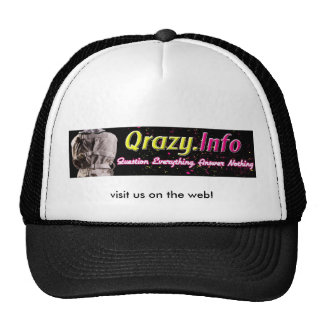 qrazy, visit us on the web! cap
