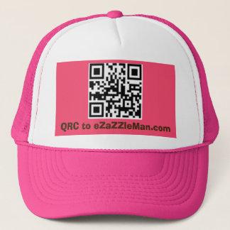 QRC to eZaZZleMan.com - Customized PinkTrucker Hat