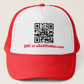 QRC to eZaZZleMan.com - Customized Trucker Hat