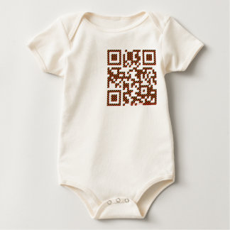 QRfy your self at IQRfy.me Baby Bodysuit