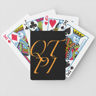 QTPI ORANGE BICYCLE PLAYING CARDS