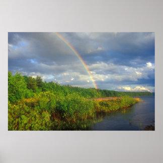Quabbin Gate 35 Rainbow Poster