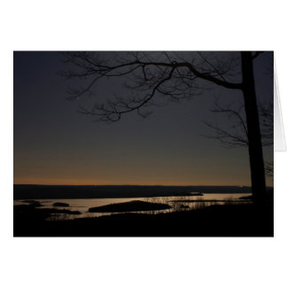 Quabbin Reservoir by Moonlight Card