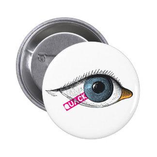 Quack white button