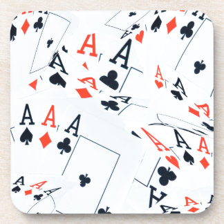 Quad Aces Poker Cards Pattern, Coaster