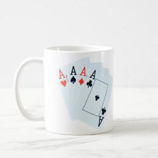 Quad_Aces_White_Coffee_Mug Coffee Mug