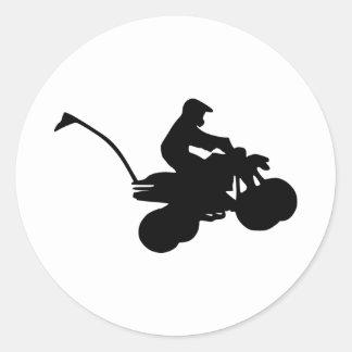 Quad - ATV Classic Round Sticker