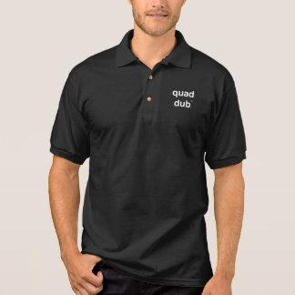 quad dub (tm) golf shirt - dark colors