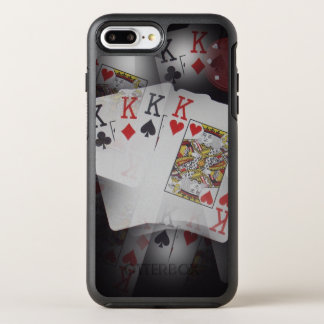 Quad Kings In A Layered Pattern, OtterBox Symmetry iPhone 8 Plus/7 Plus Case