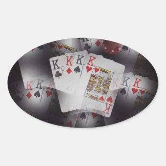 Quad_Kings,_ Oval Sticker