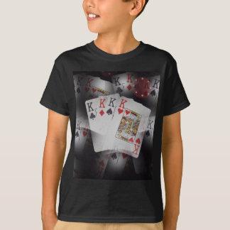 Quad Kings Poker Cards Pattern, T-Shirt