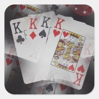 Quad_Kings,_ Square Sticker