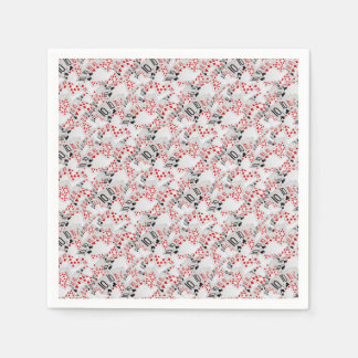 Quad Tens In A Layered Pattern, Paper Napkin