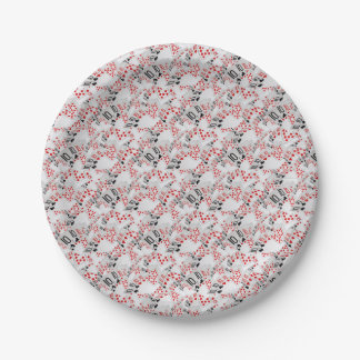 Quad Tens In A Layered Pattern, Paper Plate