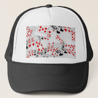 Quad Tens In A Layered Pattern, Trucker Hat