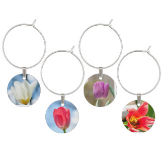 Quad-Tulips Wine Glass Charms