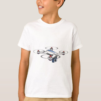 Quadcopter Drone Red White and Blue T-Shirt