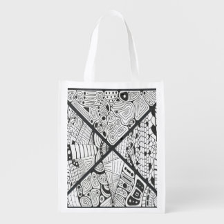 QUADRANTS REUSABLE GROCERY BAG