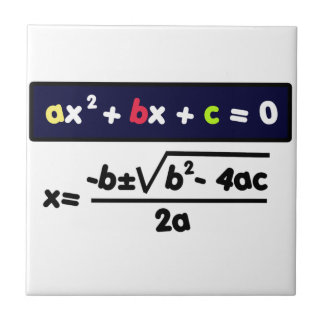 Quadratic equation ceramic tile