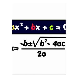 Quadratic equation postcard