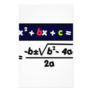 Quadratic equation stationery